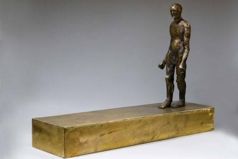 Walking figure, bronze, 70x20x60 cm, 2010