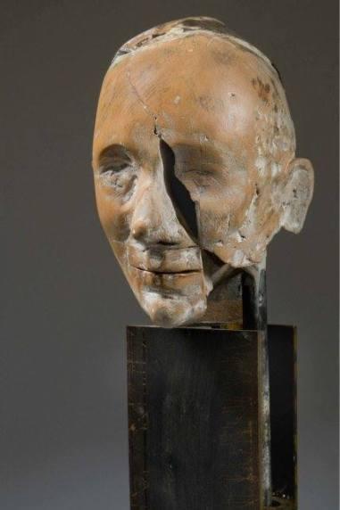Gregory Corso, terracotta, 50x20x20