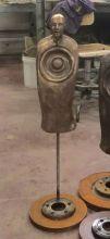 """Detail """"Orator sound sculpture"""", bronze, 80x20x10 cm, 2015"""