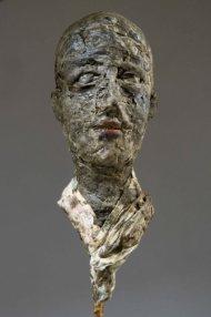 Giovane Ungaretti, cera e stoffa, 50x25x25 cm, 2011